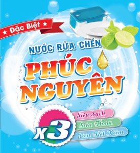 Nước rửa chén Phúc Nguyên – hàng Việt Nam chất lượng cao