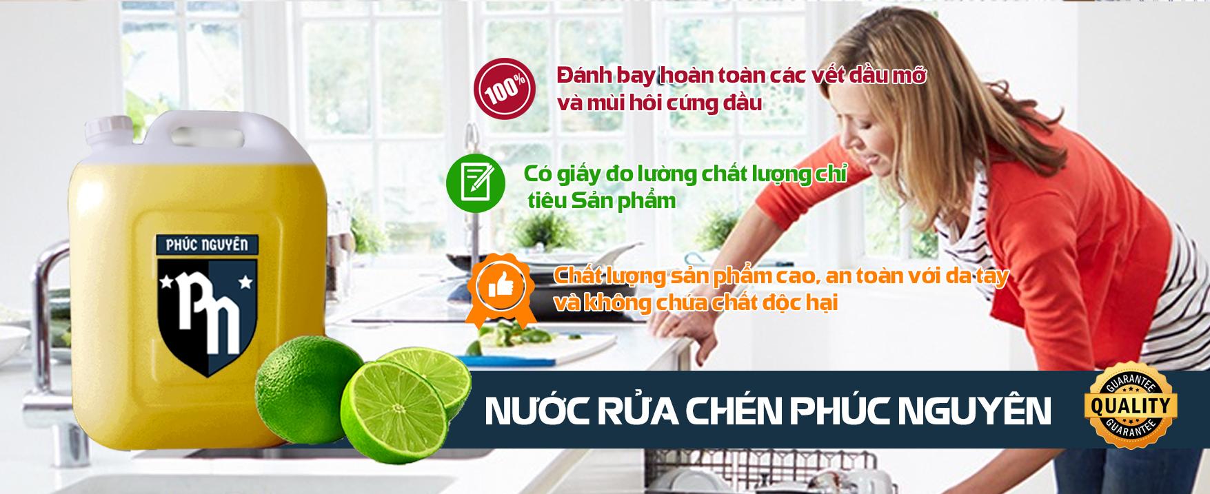 Nước Rửa Chén PHÚC NGUYÊN - hàng Việt Nam chất lượng cao