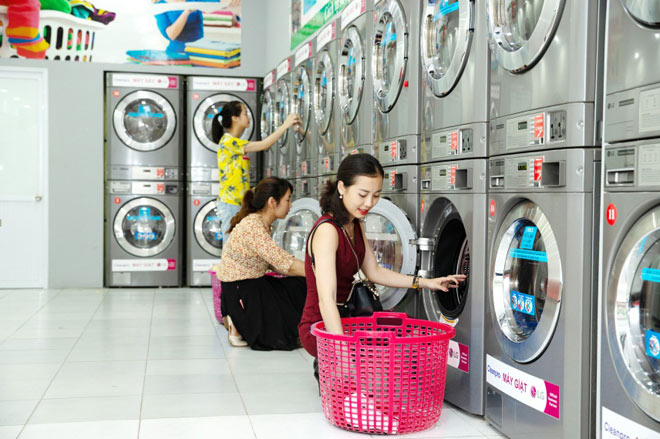nước giặt xả 2 trong 1 - giúp tăng lợi nhuận cho cửa hàng giặt ủi